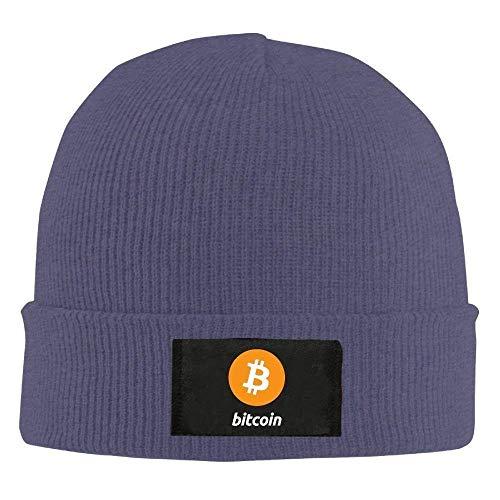 JIEKEIO Funny Baseball Caps Hats Bitcoin Logo Bitcoin Sign - Adult Knit Cap Beanies Hat Winter Warm Hat