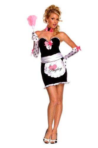 Adult Dienstmädchen Französisch Kostüm - Villa Dienstmädchen (Französisch Maid) - Playboy - Adult Kostüm