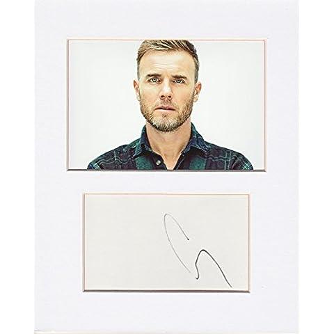 Take That–Gary Barlow Original y auténtico Autógrafo firmado AFTAL Coa