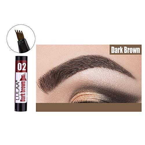 Sourcil Stylo Tatouage Crayon Sourcils avec Pointe de Fourche Longue Durée Imperméable à l'eau Gel pour les Yeux Maquillage (B)