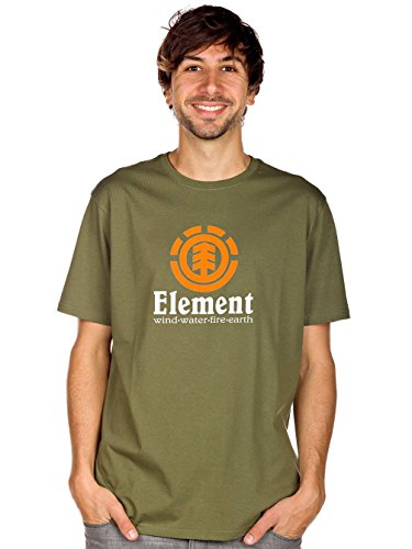 Element Herren T-Shirt Vertical Army