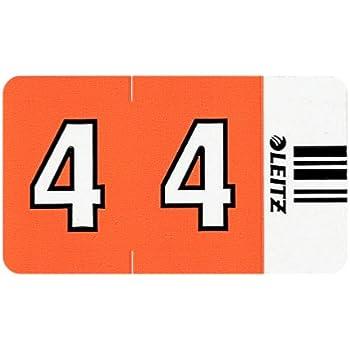 orange Leitz 66040000 Orgacolor Ziffernsignal 4 100 St/ück