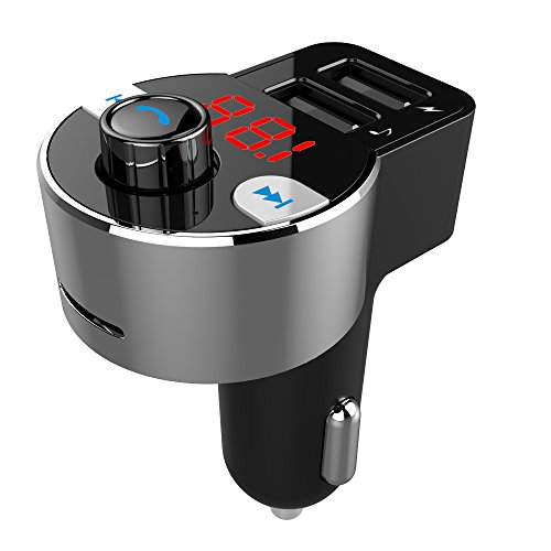 Firste Bluetooth MP3 Player FM Transmitter Hands-free Car Kit Charger, Auto Radio Adapte with Dual USB Car Charger 5V/3.1A output, Micro SD / TF Card Reader Slot for iPhone 7 6 Plus 6S 7S Plus, iPad, Samsung Galaxy S8 7 Plus etc. (Die Hände Frei Handy-lautsprecher Für Auto)