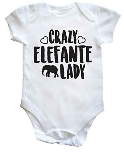 HippoWarehouse Crazy Elefante Lady body bodys pijama niños niñas unisex