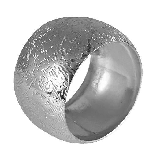 Cuttey 12 Stück Serviettenringe mit Gravur Moderne Runde Metall Serviettenschnalle für Hochzeit, Taufe, Kommunion, Graduierung, Geburtstag, Weihnachten sale2019 decent