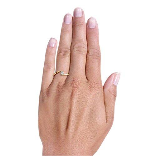 Goldmaid Damen-Ring Glamour Verlobung 585 Gelbgold 10 Brillanten 0,08 ct. - 2