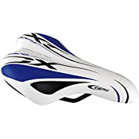 Manufacturas Ges A311S40 - Sillín de Ciclismo, Color Blanco y Azul