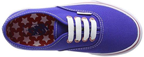 Vans Unisex-Kinder Authentic Sneaker Blau (star Eyelet/surf The Web)
