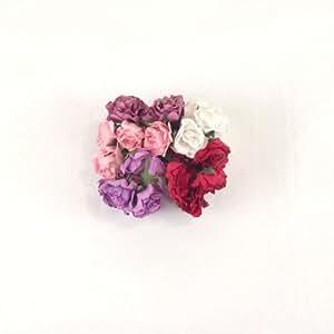 Farbe Blättern Petite Papier Rosen–weiß–künstliche Blumen