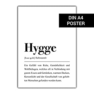 DIN A4 Hygge Definition (Deutsch) Poster