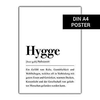 DIN A4 Hygge Definition (Deutsch) Poster