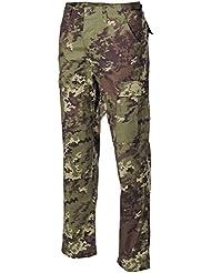MFH Hombre Pantalones de combate US BDU Cremallera Stop - vegetato, 3XL