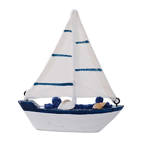 Vosarea barca a vela legno con conchiglia nautica decorazioni decorazioni legno mare