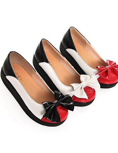 ZQ Scarpe Donna - Mocassini - Matrimonio / Tempo libero / Formale / Casual - Comoda / Punta arrotondata - Plateau - Finta pelle -Nero / , red-us8 / eu39 / uk6 / cn39 , red-us8 / eu39 / uk6 / cn39 black-us7.5 / eu38 / uk5.5 / cn38