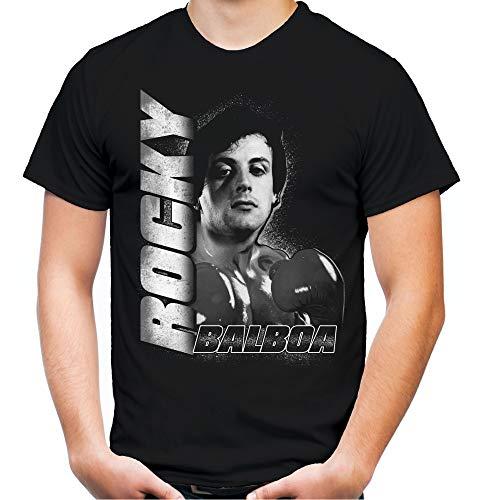 Rocky Männer und Herren T-Shirt | Balboa Boxing Boxen Fight | M3 (XL, Schwarz)