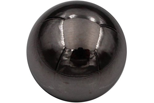 silber dunkel titan Knöpfe Metall glänzend Ösenknöpfe Kugelform günstig 6 Stück (15mm)