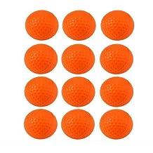 Pelotas de práctica de espuma de Crestgolf - 12unidades por bolsa, naranja