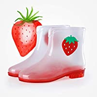 Giow Mid-tube ladies rain boots, non-slip transparent Martin shoes PVC soft autumn and summer