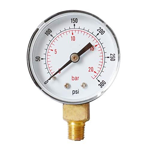 ULTECHNOVO compresor de aire npt de alta precisión manómetro de alta resistencia 0-300 psi 0-20 bar...