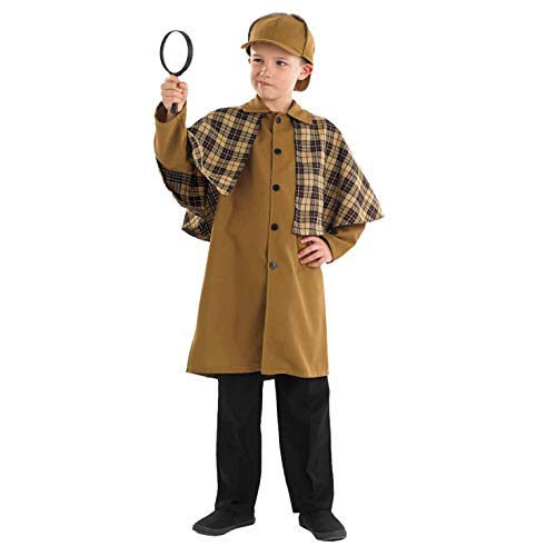 Fun Shack FNK3997XL Kostüm, Boys, Victorian Detective, - Sherlock Holmes Kostüm