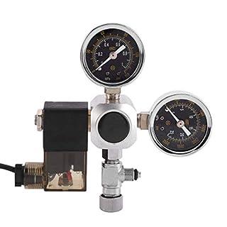 CO2 System Pressure Regulator Bubble Counter Solenoid Valve Dual Gauge for Aquarium System