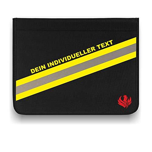 Roter Hahn 112 Personalisierbare Feuerwehr Schreibmappe Freitext Organizer Konferenzmappe HUPF Design Reflex
