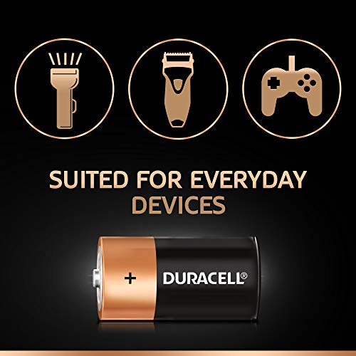 Best duracell power bank in India 2020 Duracell C Alkaline Battery with Duralock Technology (Black and Brown, Pack of 2) Image 5