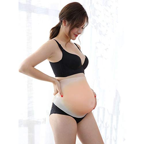 Silikonhaut gefälschter Bauch gefälschter Bauch gefälschte Schwangere Frau Fotoshooting Schauspieler Display Prop Schwangere Frau Erfahrung (Color : Skinless Belly (4-5 - Display Und Kostüm