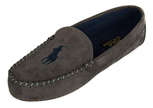 Pantofola ciabatta babbuccia mocassino casa uomo homewear POLO RALPH LAUREN arti 991690 Grey