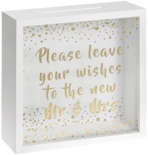 Wedding Memories Andenken Box Lassen Sie Ihre Wünsche für die neue Mr & Mrs Geschenk Andenken Box Wedding