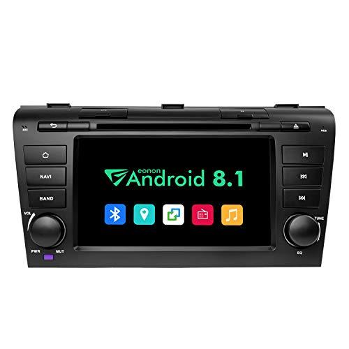 eonon GA9251B für Mazda 3 2004-2009 Android 8.1 2G RAM 32G ROM Quad-Core 17,8 cm (7 Zoll) LCD Touchscreen DVD GPS USB FM RDS kompatibel mit Bose System unterstützt Bluetooth 4G WiFi Lenkradsteuerung (Mazda 3 Sound System)