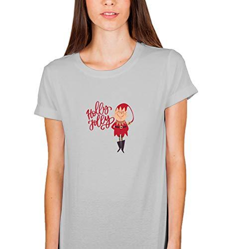 Christmas Imp Holly Jolly Santa_007865 Tshirt T Shirt gebraucht kaufen  Wird an jeden Ort in Deutschland