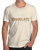 Men's Rhinestone Diamante Chocolate Diet Organic Cotton T-Shirt