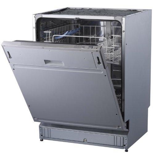 PKM DW12-6FI vollintegrierbarer Geschirrspüler / A+ / 289 kWh/Jahr / 3080 Liter/Jahr / 12 MGD / 49 db / Aqua-Stop-Schlauch / Überlaufschutz / edelstahl
