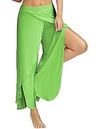 HARRYSTORE 2017 Verano Mujer Casual pantalones sueltos Pantalón ancho Culottes Pantalón estiramiento Yoga pantalones anchos pantalones deportivos Fitness