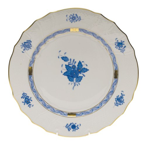 Herend Chinese Bouquet Blue Dinner Plate by Herend -