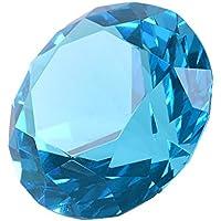 Pisapapeles LONGWIN, diseño de diamante de varias caras, 60 mm, color sólido, Aquamarine Blue