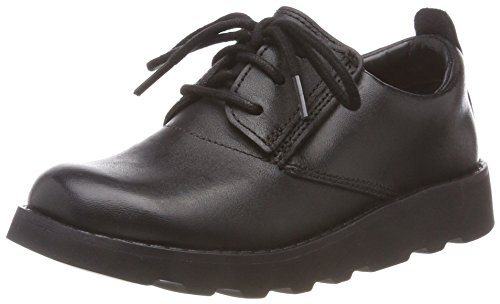 Clarks Jungen Crown London Derbys, Schwarz (Black Leather), 32 EU