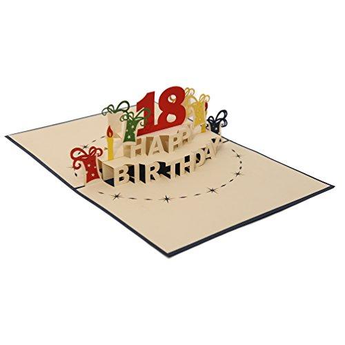 Favour Pop Up Grusskarte zum 18. Geburtstag. Stilvolles Design, aufwändige Handarbeit und ausgefeilte Lasertechnik schaffen auf kleinstem Raum ein filigranes Kunstwerk, dass sich beim Öffnen des gestalteten blauen Umschlags entfaltet. TA18B