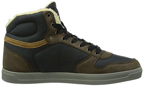 A Uomo blau Alto Collo British - Ranger Blu Sneaker Knights Brown-cognac01 navy-dk