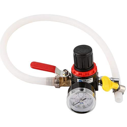 Outil de vérificateur de détecteur de réservoir d'eau de camion de voiture de testeur de système de refroidissement des véhicules à moteur (couleur: noir et argent et blanc)