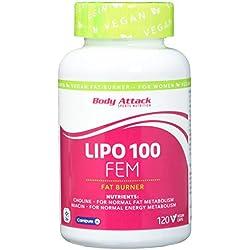 Body Attack, Lipo 100 FEM, 1er Pack (1 x 120 Kapseln)
