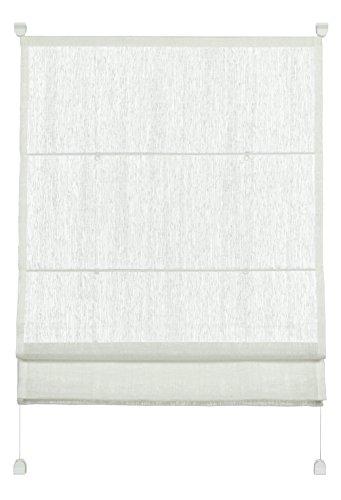 Hängen Roman Blind (GARDINIA Raffrollo zum Klemmen, Raffgardine, Transparent, Alle Montage-Teile inklusive, EASYFIX Raffrollo mit zwei Bedienschienen, Weiß, 50 x 140 cm (BxH))
