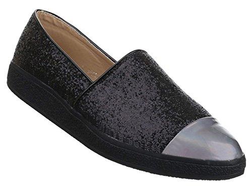 Damen Halbschuhe Lace up Schuhe Slipper Schwarz 36 37 38 39 40 41 Schwarz