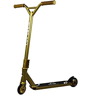 Cox Swain Stunt Scooter X-385 mit ABEC9 Lager und ALU Kern Rollen Super Heavy Quality!, Colour: Gold