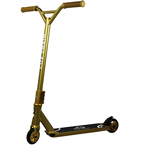 Cox Swain Stunt Scooter X-385 mit ABEC9 Lager und ALU Kern Rollen Super Heavy Quality!, Colour: Black/Gold