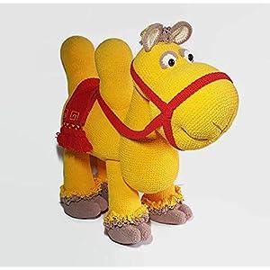 Handgefertigt Kamel 65 x 65 cm, Ibil das glückliche Kamel, Stofftier Kamel, Baby Kinderzimmer Kamel, Heimtextilien, Dschungel Schlafzimmer, Amigurumi Kamel
