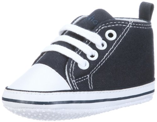 Playshoes Baby Canvas-Turnschuhe, Blau (marine 11) 18 -