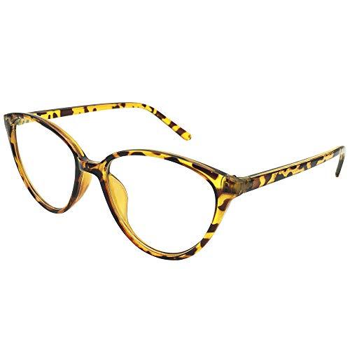 Kurzsichtigkeit Brille Myopia Brille Ladies Cateye Nearsighted Womens Cat Eye Tortoise Frames Shortsighted Retro Spectacles Myopia,-1.0