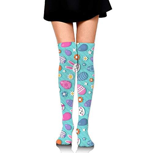 ncnhdnh Cute Easter Bunny Womens Socks Thigh High Over The Knee Socks Cycling - Billig Sexy Bunny Kostüm